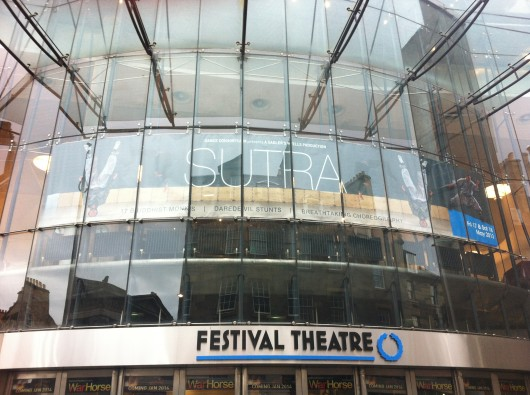 Sutra's final performance in the UK was at the Festival Theatre
