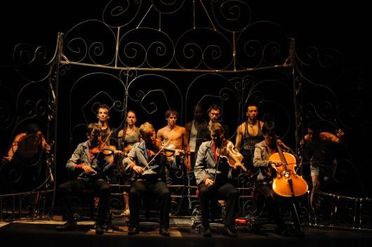 The Debussy quartet perform in Boxe Boxe Photo by Michel Cavalca