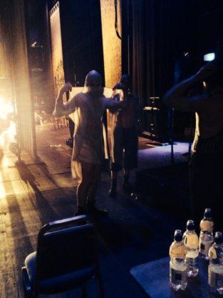 Fred having fun backstage