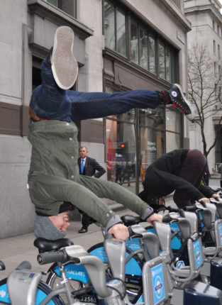 Fred takes a ride on a Boris Bike