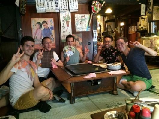 Sampling the Japanese cuisine