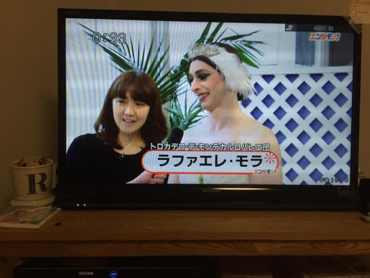 Being interviewed on Japanese television
