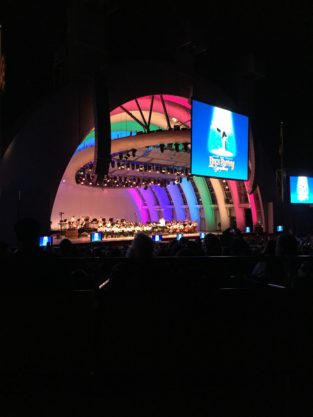 The performance evening of Buggs Bunny at the Hollywood Bowl
