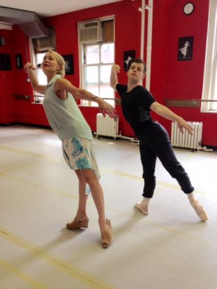 Spending extra time with Valentina Kozlova working on the 'Waltz' variation from Chopiniana