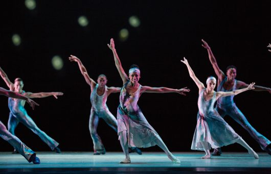 Alvin Ailey American Dance Theater in Alvin Ailey's Night Creature. Photo by Rosalie O'Connor.